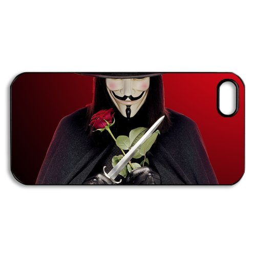 V For Vendetta iPhone 5 Case Hard Protective iPhone 5 Case (V Is Vendetta)