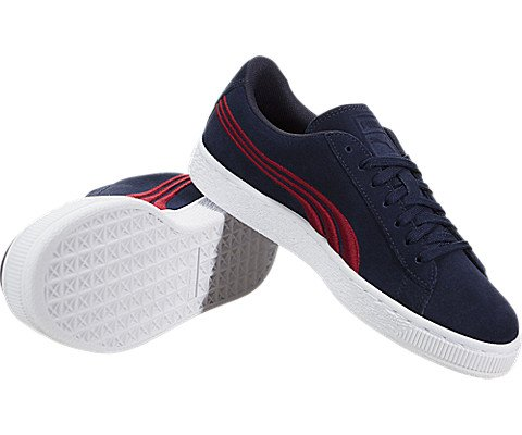 PUMA Unisex-Kids Suede Classic Badge, Peacoat-Toreador, 5 M US Big Kid by PUMA (Image #2)
