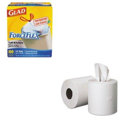 KITCOX70427KIM01032 - Value Kit - SCOTT Roll-Control Center-Pull Towels (KIM01032) and Glad ForceFlex Tall-Kitchen Drawstring Bags (COX70427)