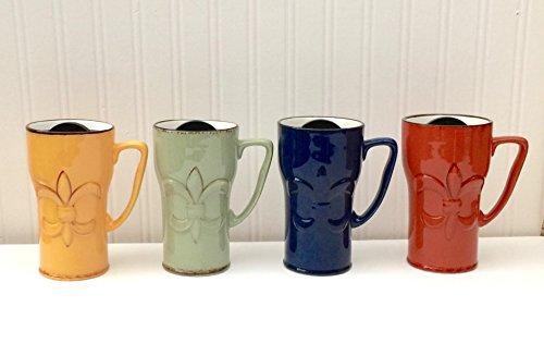 Tuscany Fleur De Lis Coffee Travel Mug
