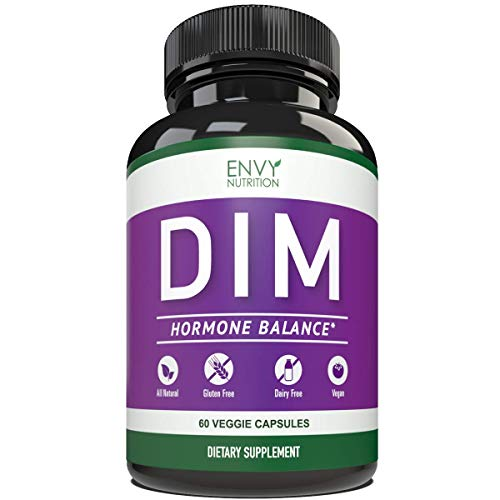 DIM 300mg Pills-All Natural Supplements for Men & Women Estrogen Balance, Menopause Relief, Estrogen Blocker and Hormonal Acne Treatment: Plus BioPerine 5mg, 60 Day Supply