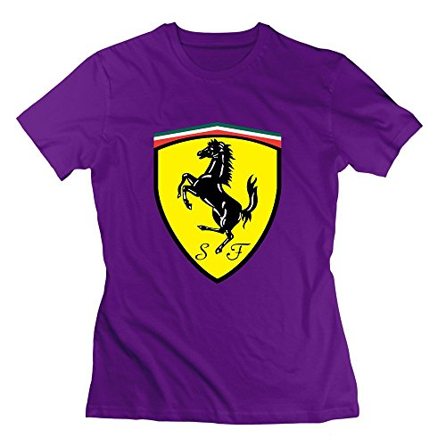 Women's Ferrari Logo T Shirt - Ferrari Purple