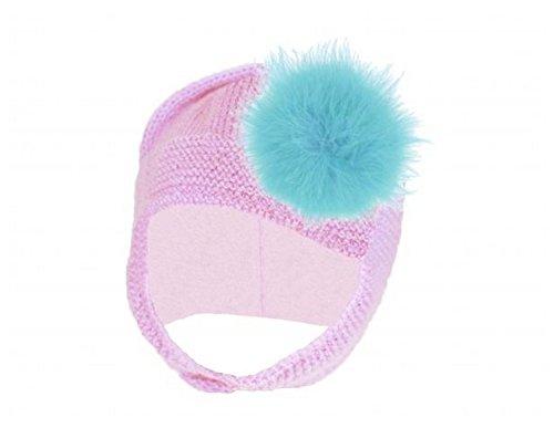 Pale Pink Blossom Bonnet with Teal Large regular Marabou, Size: (Pale Blossom Apparel)