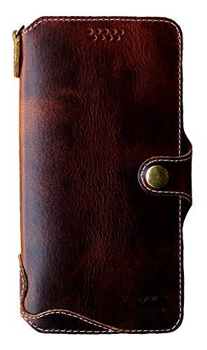Yogurt for OnePlus 7 Pro Genuine Leather Wallet Cases Cover Handmade Dark - Pro Genuine Leather