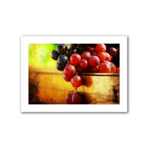 ArtWall Dragos Dumitrascu 'Autumn Grapes' 20 by 28-Inch Unwrapped Flat (Grape Border Flat)
