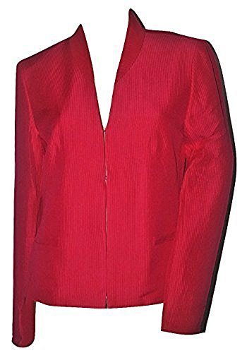 Linen Silk Coat - Jones New York Women's Linen & Silk Blazer Jacket Deep Pink (12)