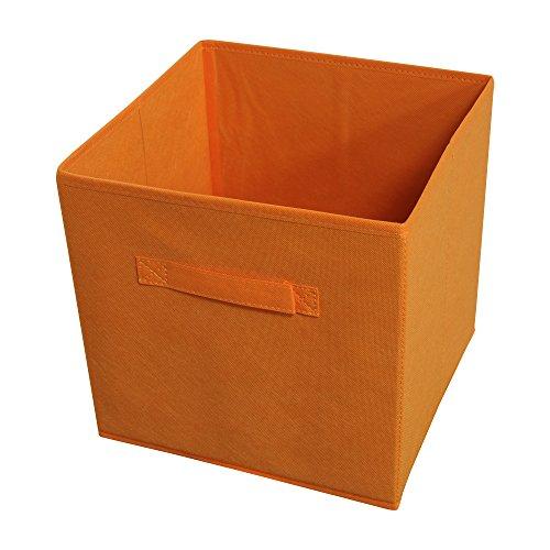 Achim Home Furnishings Collapsible Storage Bins, Set of 4, Orange