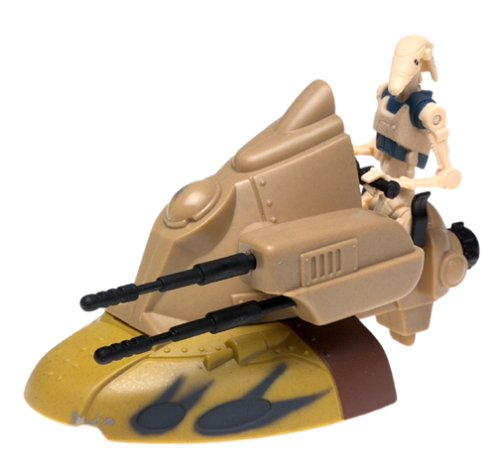 "STAR WARS EPISODE I "" ARMORED SCOUT TANK w/ BATTLE DROID """