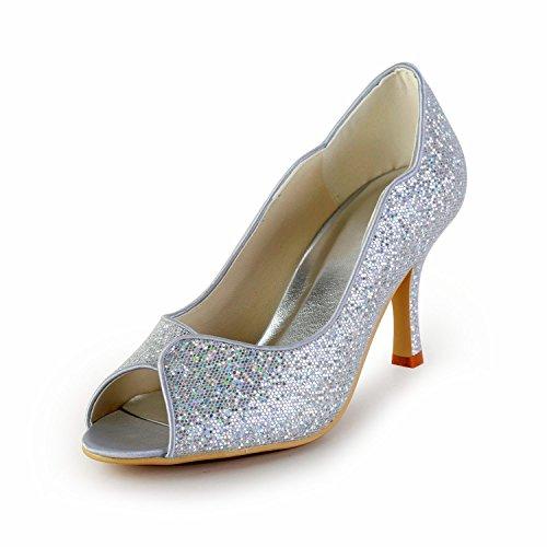 8cm Heel Sandales argent pour Minitoo Silver femme vPXFqOzO