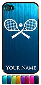 Engraved Aluminum iPhone 4/4S Case/Cover - TENNIS RACKETS, RAQUETS - Personalized for FREE (Click the CONTACT SELLER link after purchase to tell us your case color and engraving request)