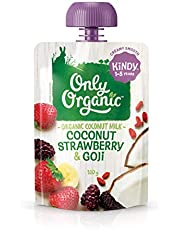Only Organic Coconut Strawberry & Goji Kindy 1-5 Years - 100g