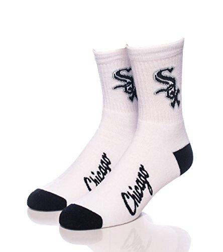MLB Chicago White Sox Men's Quarter Socks, White