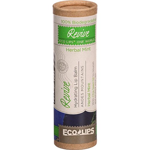 Ecolips-Organic-Lip-Balm-One-World-Eco-Tube-Revive-Hydrating-Herbal-Mint-03-oz-Case-of-15