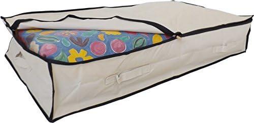 Bolsa de almacenamiento para debajo de la cama hecha en poli/éster resistente de 600 D con 4/asas reforzadas 85 L Stupidly Useful negro edredones y ropa de cama Para ropa
