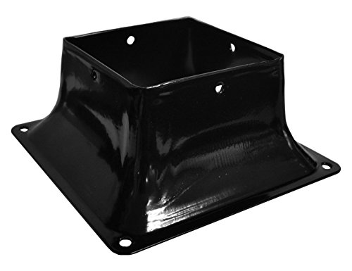 Railing Post Anchor - Pylex 13048 Base 44 Post, Black