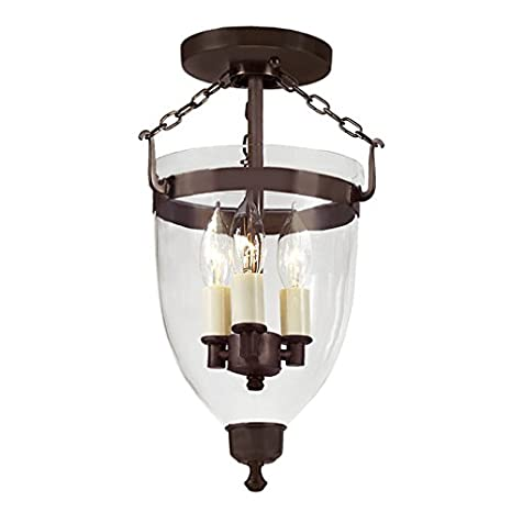 Amazon.com: jvi diseños 1165 – 08 3-Light Danbury Bell farol ...