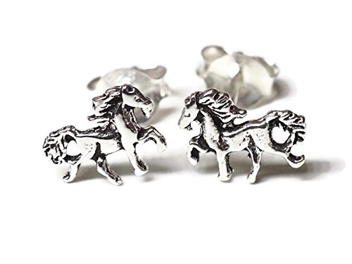 Drive 8 Mm Plug (925 Sterling Silver Earring Cartilage For Women Ear Stud Helix Pony Horse 5/16