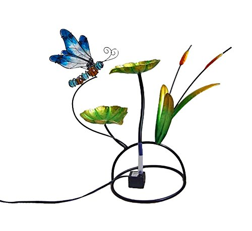 Continental Art Center Metal and Glass Dragonfly Fountain, 18 by 18 by 13-Inch CAC14BE0111ZOC