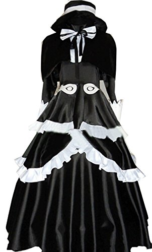 Cosnew Halloween Anime Victoria Queen Black Dress Cosplay Costume-Made