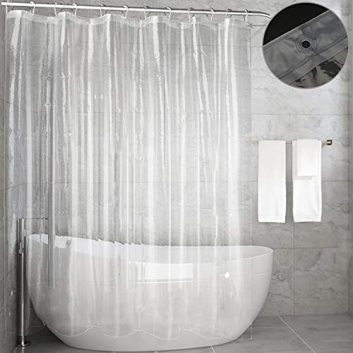 Feagar Clear Shower Curtain Liner, Waterproof72x72 Inch, PVC Free, Non Toxic,Odorless Bathroom Curtain for Bathtub or Shower Stall
