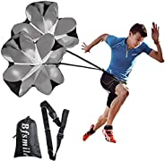 """Bfsmile Running Speed Training 56"""" Parachute with Adjustable Strap, Free Carry Bag. Speed Chute Resistanc"""