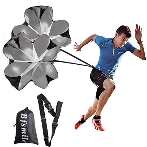 (Bfsmile Running Speed Training 56 Inch Parachute. Speed Chute for Weight Bearing Running and Fitness Core Strength Training (2 Umbrella))