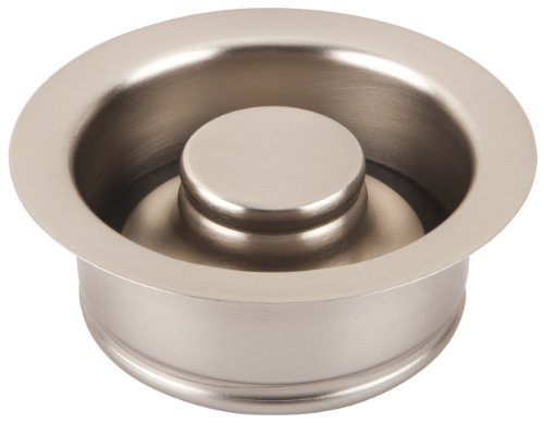 UPC 181514000981, ECOSINKS GD35-N 3-1/2-Inch Disposal Flange Drain with Stopper, Satin Nickel Finish