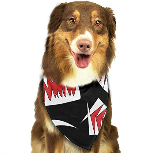 OURFASHION Cool Fangs Bandana Triangle Bibs Scarfs Accessories for Pet Cats and Puppies]()