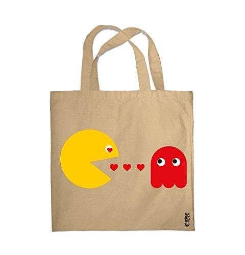 Valentino Pacman 0098 Da Spesa San Spiaggia Giorno Borsa Colour Naturale Love Fashion RqBvxwIE