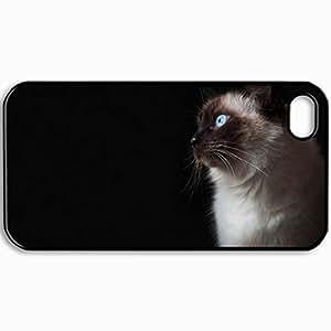 Fashion Unique Design Protective Cellphone Back Cover Case For iPhone 4 4S Case Cat Black