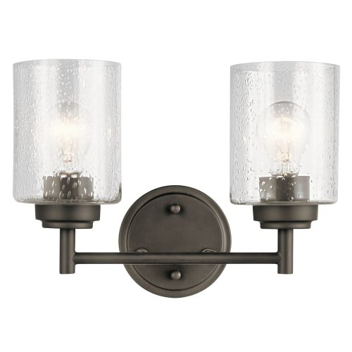 Kichler Lighting 45885OZ Two Light Bath from the Winslow (Winslow Wall Sconce Finish)