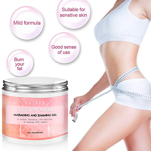 SAISZE Anti Cellulite Body Slimming Cream, Hot Cream Treatment & Weight Loss,Belly Fat Burner for Women and Men (Cellulite Cream + Massager) 2