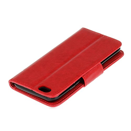 Cozy Hut iPhone 6 6S (4,7 Zoll) Hülle,iPhone 6 6S (4,7 Zoll) Leadertasche Premium Lederhülle Flip Case im Bookstyle Folio Cover Kartenfächer Magnetverschluss und Standfunktion Leder Schale Etui für iP