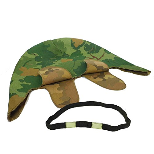 (HOME DAILY SALE WWII US M1 Mitchell Helmet Cover with Eye Strap)