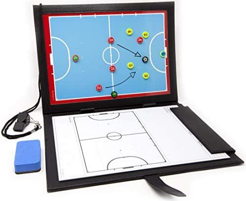 WISEPLAYERFC Taktiktafel Fußball für Fußballtrainer -Trainermappe Fußball a5 mit Tasche