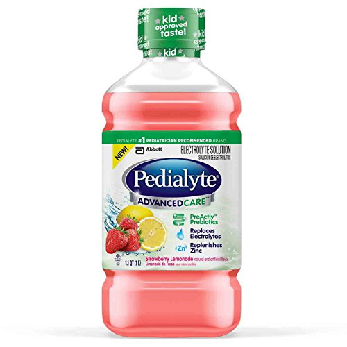 Pedialyte Advance Care Oral Electrolyte Solution, Strawberry Lemonade, 1-liter