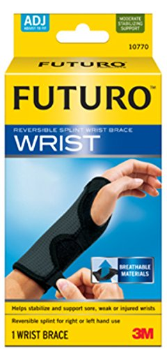 Futuro Adjustable Reversible Splint Wrist Brace, Moderate Stabilizing Support