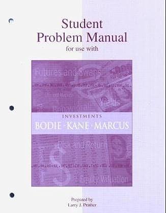 amazon com student problem manual to accompany investments rh amazon com NHTSA Student Manual LDS New Testament Student Manual