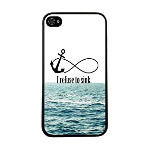amtonseeshop Various New Stylish Personalized Protective Snap On Hard Plastic Case For iphone 4 4G 4S (I Refuse To Sink)