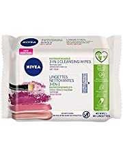 NIVEA 3-in-1 Biodegradable Face Cleansing Wipes for Dry Skin (40 Wipes), Makeup Remover Wipes, Facial Cleanser Wipes that Hydrate and Refresh Skin