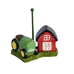 Old Time Farm Life Salt & Pepper Shaker Set (Farm and Tractor)