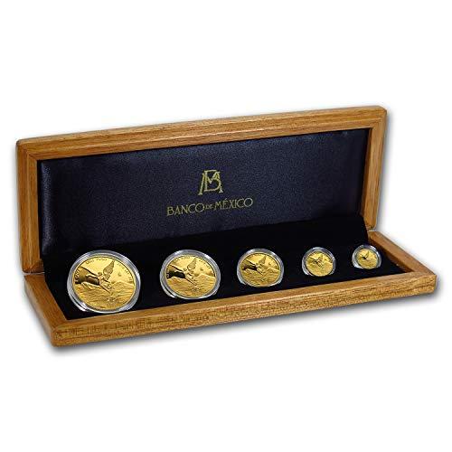 MX 2018 Mexico 5-Coin Gold Libertad Proof Set (1.9 oz, w/Box & COA) Brilliant Uncirculated