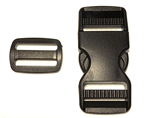 (1 Inch Quick Release Buckle Pack, No Sewing Needed! 5 Buckles, 5 Triglides, Buckle Repair/Replacement, by Vaughan Bros )