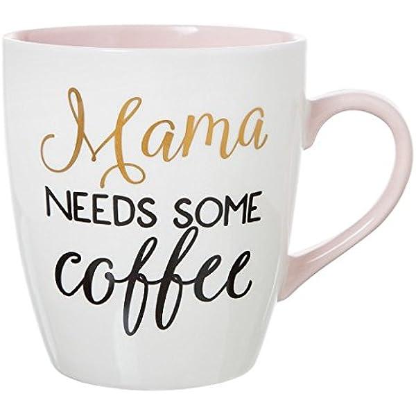 Amazon Com Clay Art Jumbo Mug 27oz Porcelain Mama Needs Some Coffee Kitchen Dining