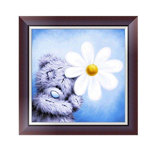 Fabal Cartoon Teddy Bear Diamond Painting Embroidery Kit Mosaic Cross Stitch Home Decor Gift (B)