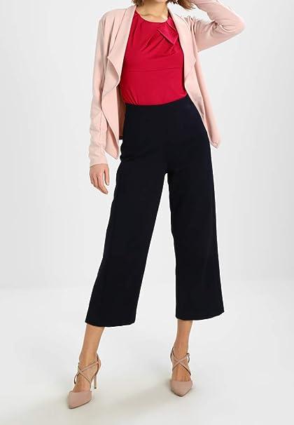 Anna Field Blusa Elegante con Mangas Cortas y Cuello Redondo - Camiseta de Manga Corta Sofisticada Para la Primavera o el Verano - Blusa de Mujer: ...