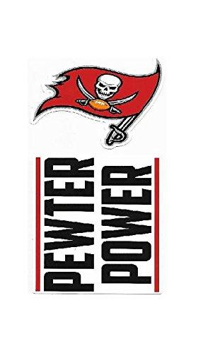 (NFL Tampa Bay Buccaneers Double Up Die Cut 2-Piece Sticker Sheet)