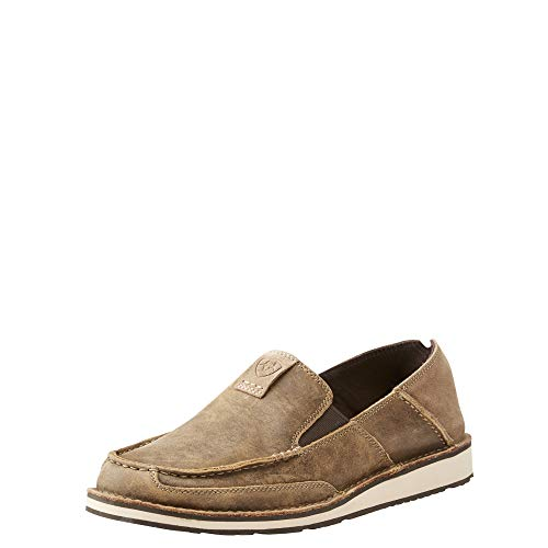 Ariat Men's Cruiser Slip-on Shoe, Brown Bomber/Relaxed Bark, 10 D US