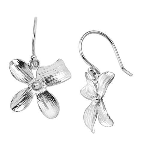 Silpada 'Garden Whimsy' Floral Drop Earrings in Sterling (Flower Dangling Necklace Earrings)