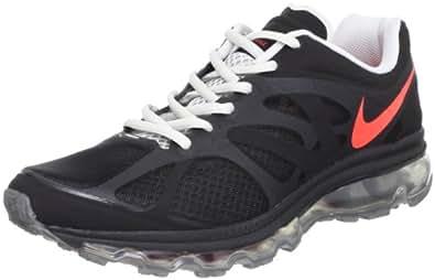 Nike Men's NIKE AIR MAX+ 2012 RUNNING SHOES 9 (BLACK/BRGHT CRIMSON/MTLLC SLVR)